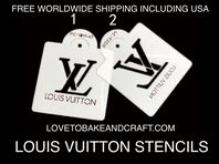 LV stencil. Louis Vuitton stencil . LV cupcakes. LV cookies. Set of 2. Free worldwide shipping